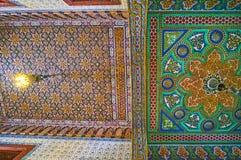 天花板, Manial宫殿,开罗,埃及 免版税库存照片