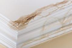 天花板水损伤 免版税库存图片