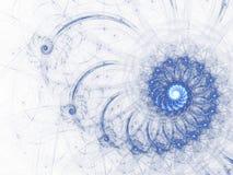 天蓝色分数维螺旋 库存图片