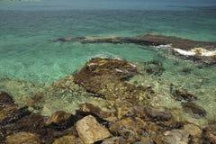 天蓝色的海岸 免版税库存照片