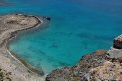 天蓝色的海岸 库存照片