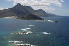 天蓝色的海岸 免版税图库摄影