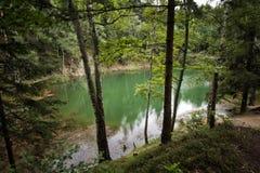 天蓝色的湖,波兰 免版税库存照片