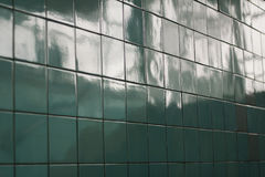 天蓝色的瓦片,背景的背景图象 库存图片