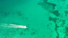 天蓝色的盐水湖海岛博拉凯海岛,菲律宾 股票视频