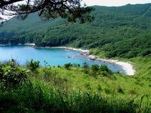天蓝色的盐水湖 库存照片
