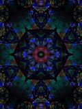 天蓝色的蓝色生动的明亮的星焦点 免版税库存图片