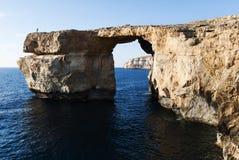 天蓝色的视窗- Dwejra, Gozo 库存照片
