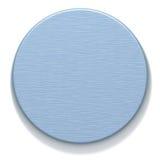 天蓝色的金属片舍入 免版税库存照片