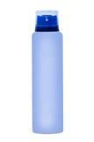 天蓝色的防臭剂容器 查出 免版税库存照片
