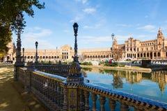 天观点的Plaza de西班牙 免版税库存照片