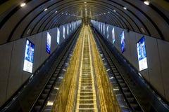天门山天门山自动扶梯在张家界,中国 库存图片