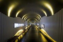 天门山天门山隧道在张家界,中国 免版税库存照片