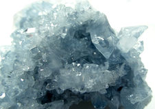 天青石geode地质水晶 免版税库存图片