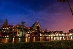 天鹅和海豚旅馆欢迎IBM的5000个到会者创新 免版税图库摄影