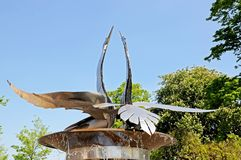 天鹅喷泉,斯特拉福在Avon 库存图片
