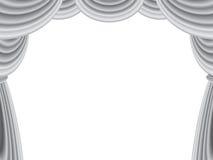 天鹅绒阶段窗帘 免版税库存照片