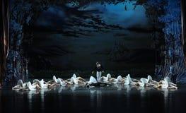 天鹅芭蕾天鹅湖的死亡 库存图片