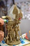 天鹅雕塑 免版税图库摄影