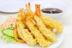 天麸罗油煎的虾日本式 库存图片