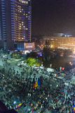 天4奇特的抗议在布加勒斯特 库存照片