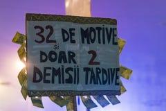 天4奇特的抗议在布加勒斯特 免版税库存图片