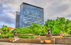 天津庭院在墨尔本,澳大利亚 免版税库存图片