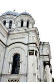 天主教会在立陶宛,大厦的边 免版税库存照片