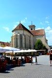 天主教会在阿尔巴尤利亚,特兰西瓦尼亚 免版税库存照片