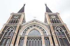 天主教会在Chantaburi,泰国 免版税库存照片