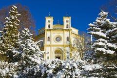 天主教会在Marianske Lazne -捷克 库存图片