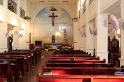 天主教会大厅 免版税库存照片