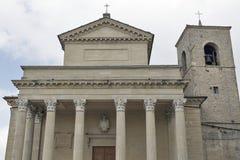 天主教会大教堂二圣马力诺 库存照片