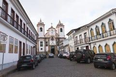 天主教在米纳斯吉拉斯州,巴西 免版税库存图片