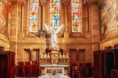 天主教堂内部 库存图片