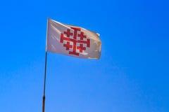 天主教堂的旗子 免版税图库摄影