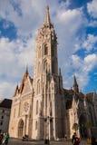 天主教马赛厄斯教会 免版税库存照片