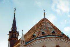 天主教马赛厄斯教会 库存照片