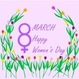 天3月八日,国际妇女` s, 图库摄影