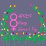 天3月八日,国际妇女` s, 免版税库存照片