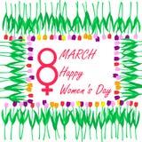 天3月八日,国际妇女` s, 库存图片