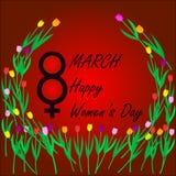 天3月八日,国际妇女` s 免版税库存照片