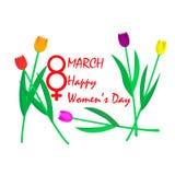 天3月八日,国际妇女` s 免版税图库摄影