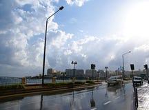 天11月7日-旋风的地中海在马耳他 库存图片