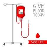 今天给血液 除生活之外 医疗和医疗保健概念 皇族释放例证