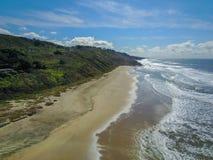 太平洋海岸线,半月湾 库存照片