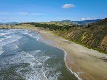 太平洋海岸线,半月湾 免版税库存照片
