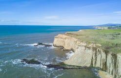 太平洋海岸线,半月湾 图库摄影