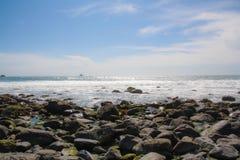 太平洋的看法从高速公路1,加利福尼亚的 库存照片