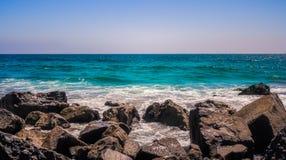 太平洋的看法在加利福尼亚 免版税图库摄影